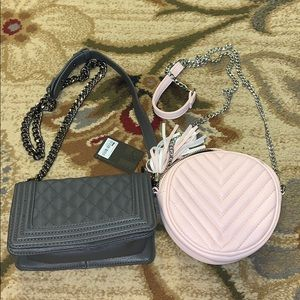 NWT Forever 21 Gray Quilted Crossbody Bundle